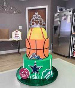 gracie birthday cake softball