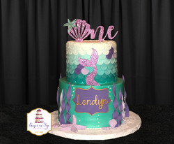 mermaid first birthday cake