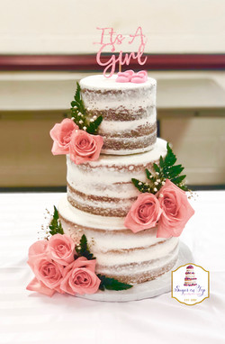 naked cake its a girl