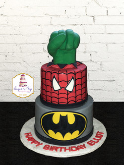 spiderman batman cake va beach