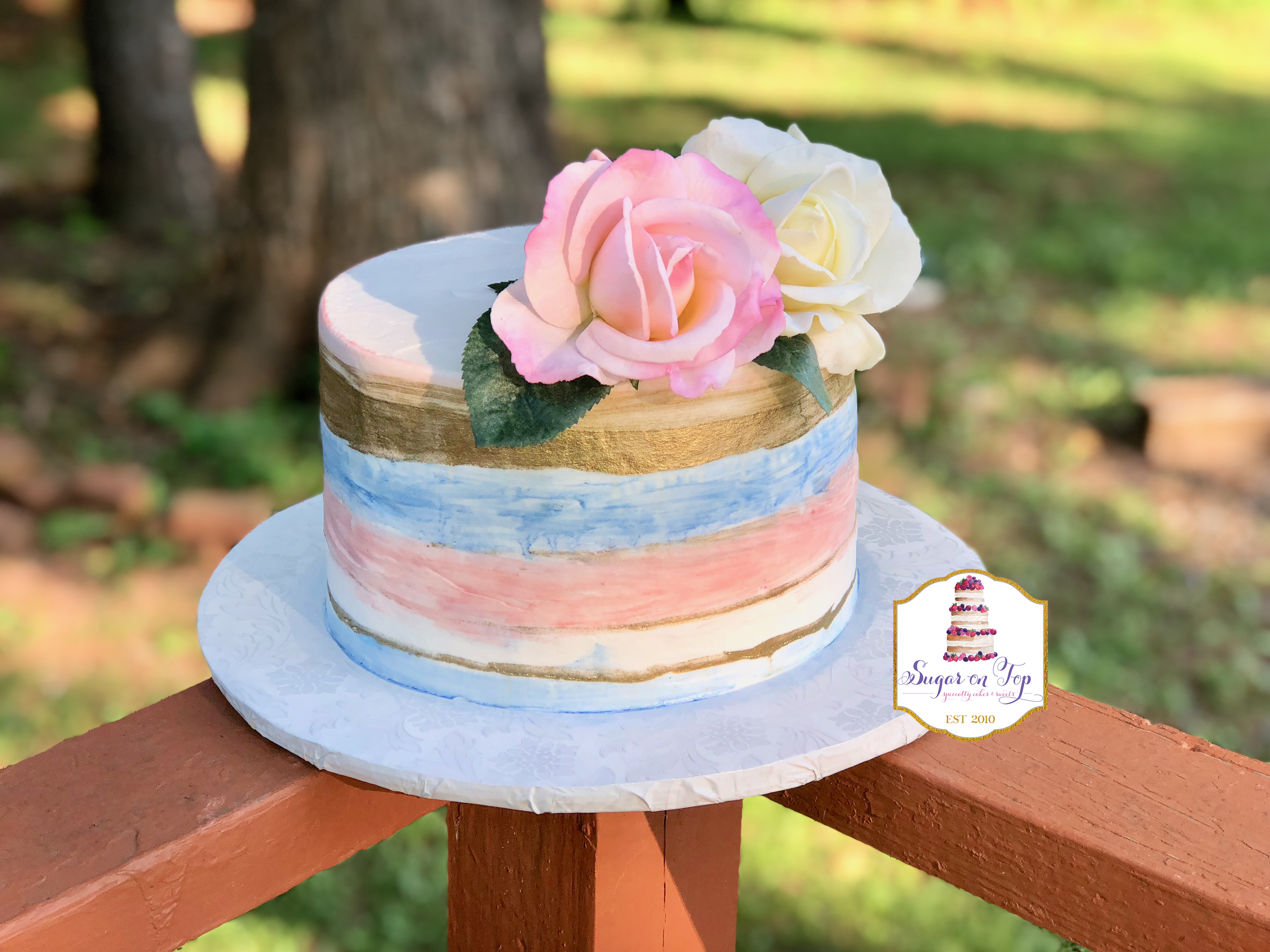 watercolor gender cake