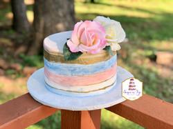 watercolor gender cake