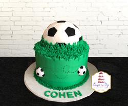 soccer ball cake cohen