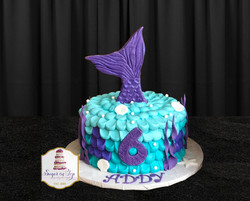 addy mermaid cake 2