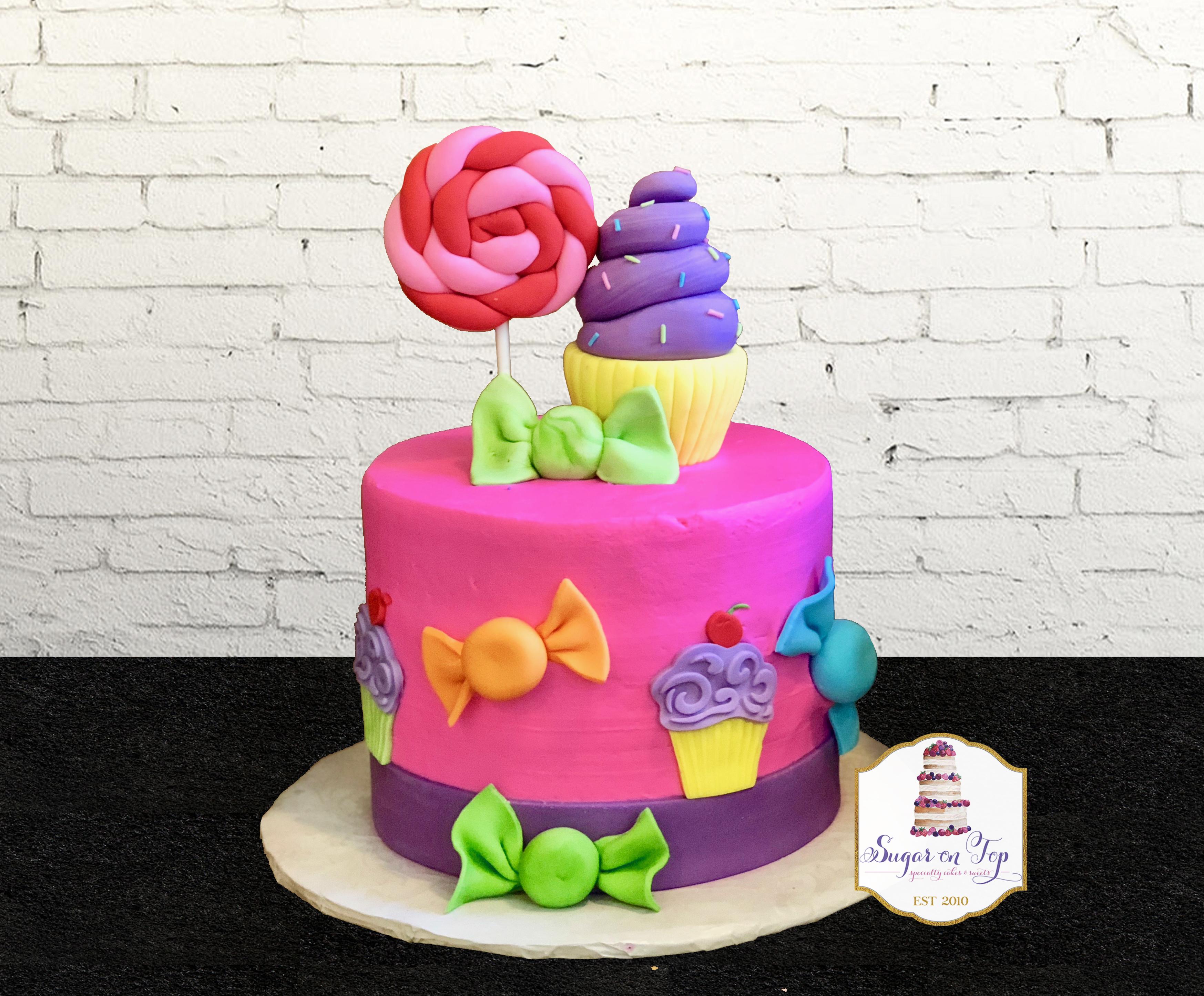 candy cupcake cake