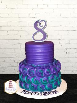 purple teal rosette