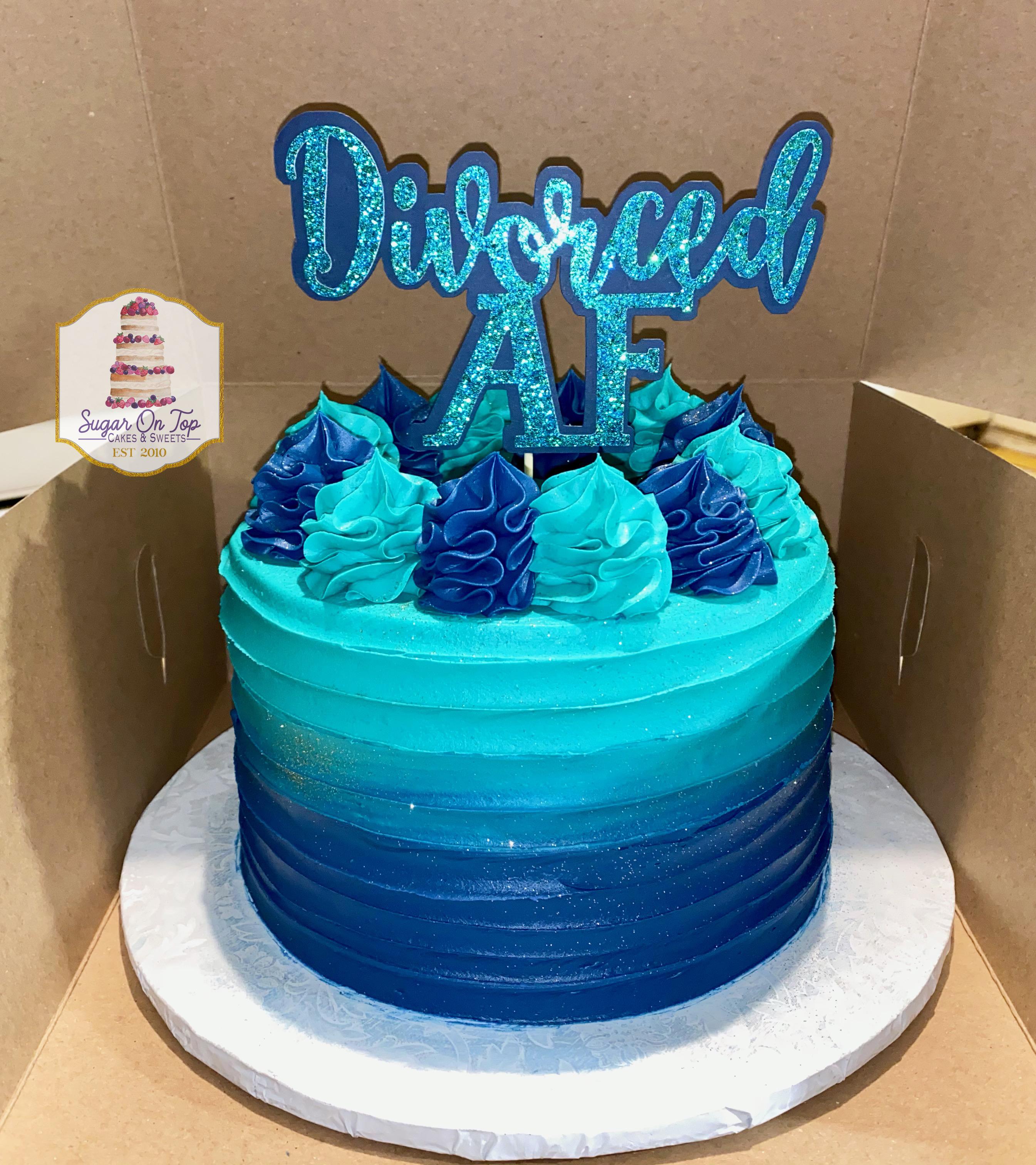 divorced AF cake