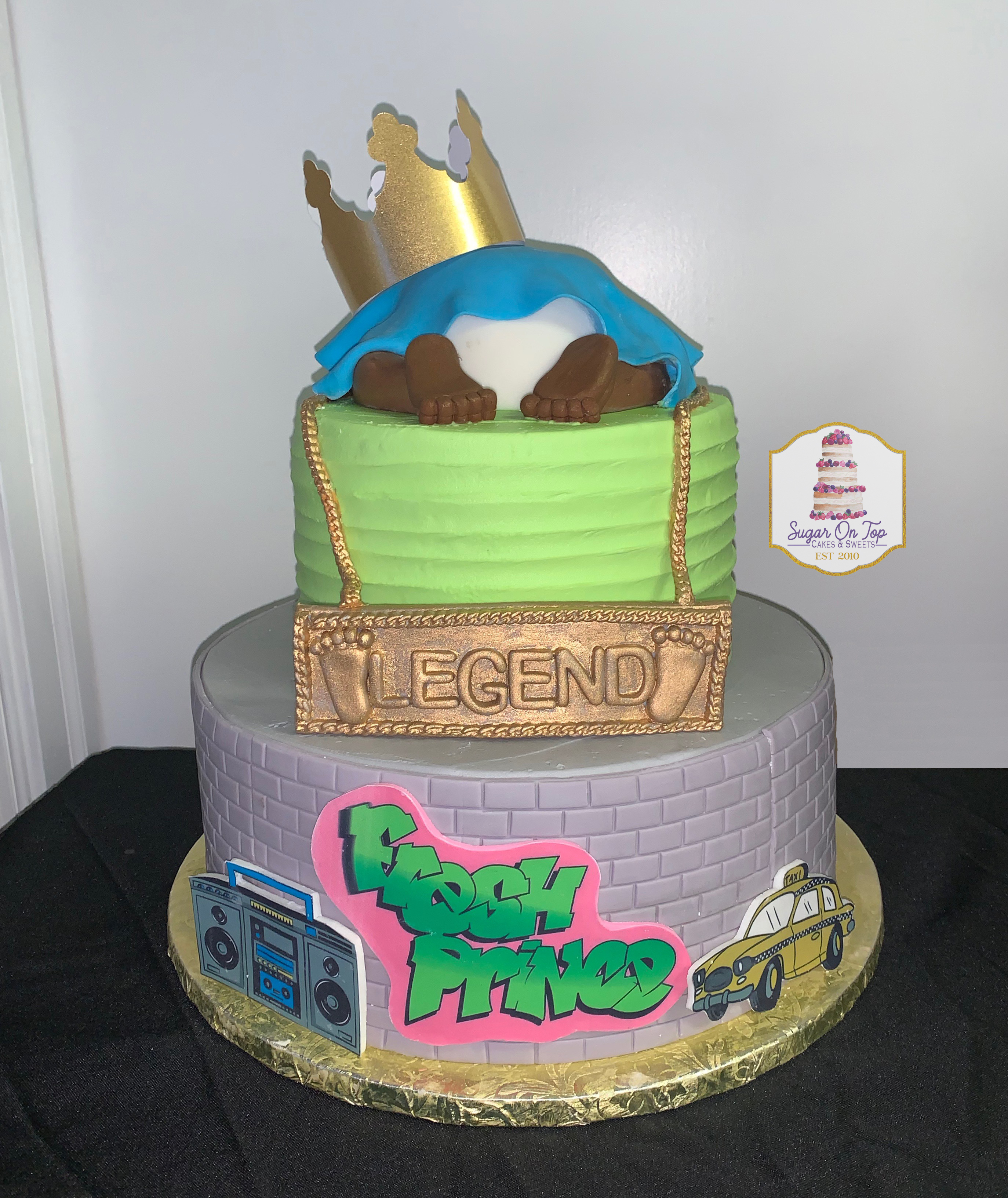 fresh prince baby shower cake