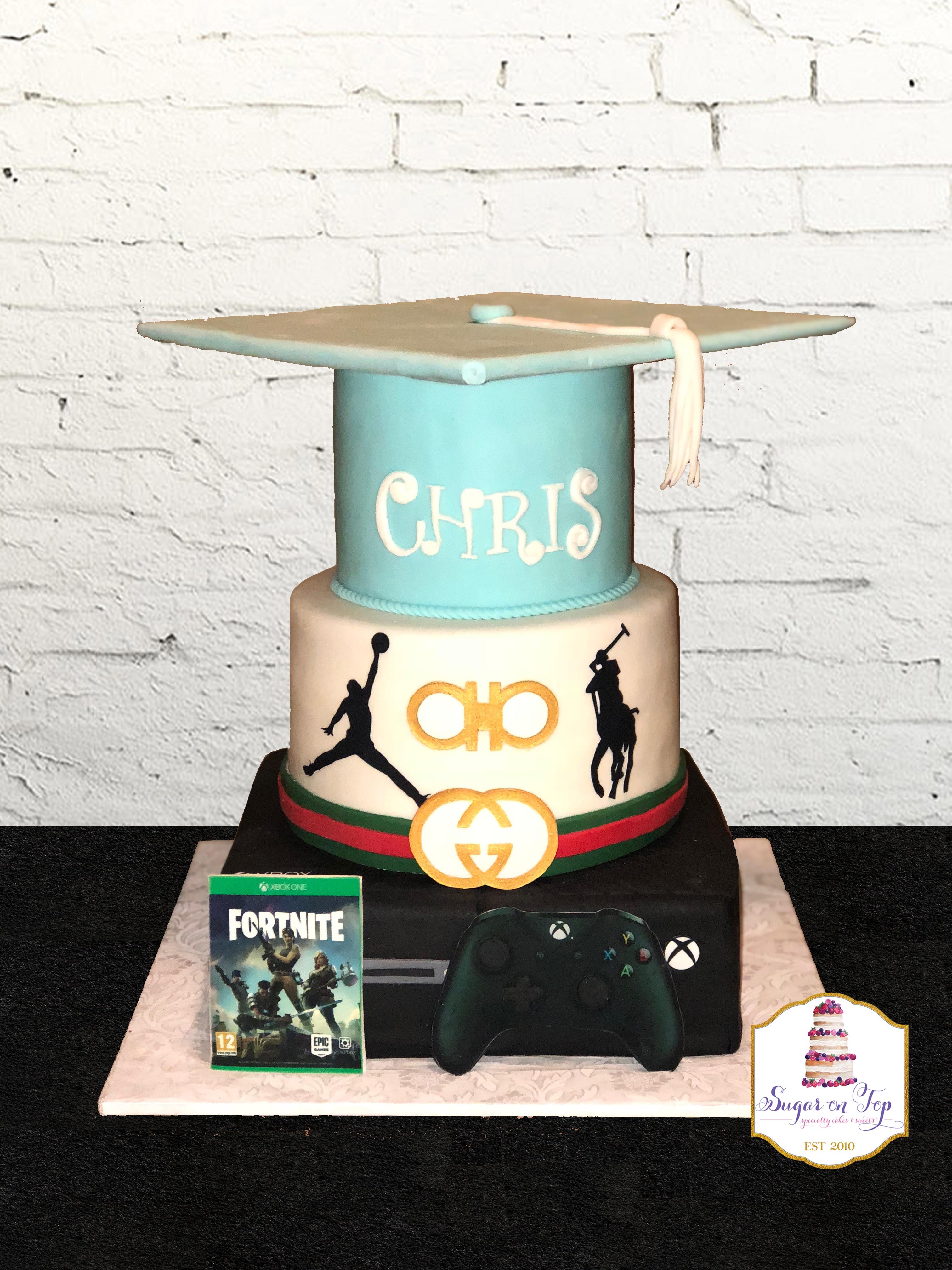 xbox grad cake
