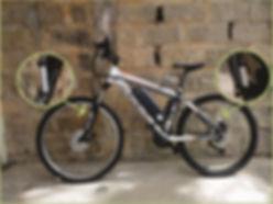 sensor freio hidden wire na bike, diante