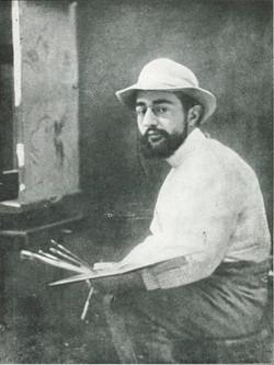 H T Lautrec avec ses pinceaux