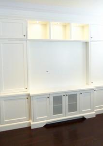 White Entertainment Wall