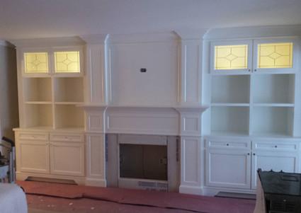 Classic fireplace wall unit