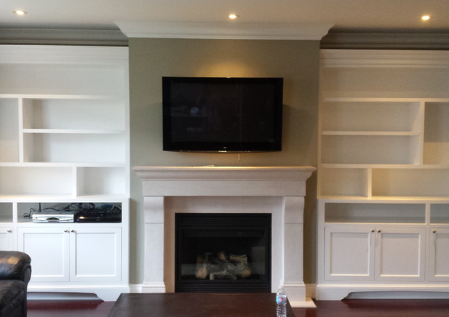 Contemporary Fireplace Wall