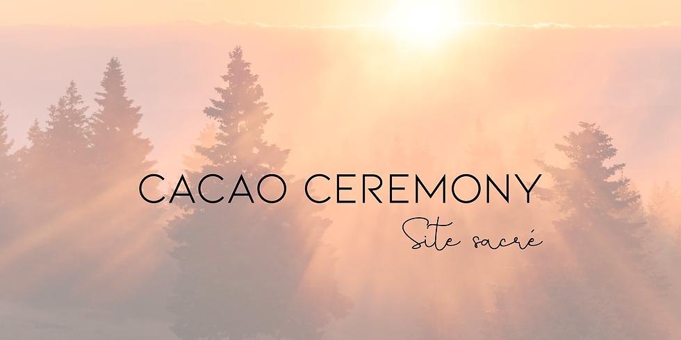 Cérémonie du cacao au site sacré