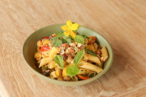 Fresh Pasta Salad with Lime Mint Dressing