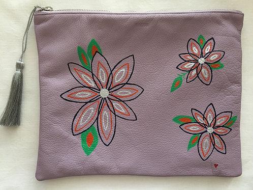 BRIELLE: iPAD COVER lavender color leather