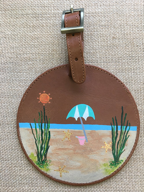 CHELSEA: leather luggage tag