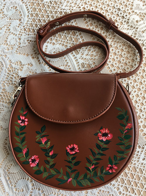 TAYLOR: vintage vegan leather crossbody handbag