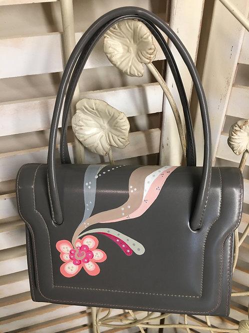 ELISE~ Vintage Faux Leather Box Handbag