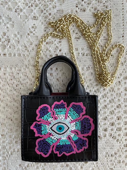 LISA J~Vegan Leather Necklace MICRO Mini Bag