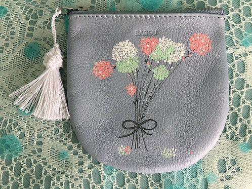 BELLA: blue leather coin pouch