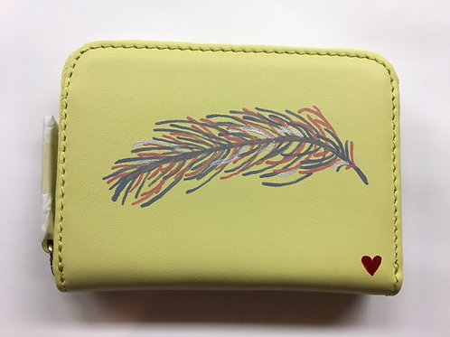LYNNE: yellow square leather wallet