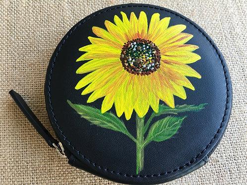 DANA: black leather circle wallet