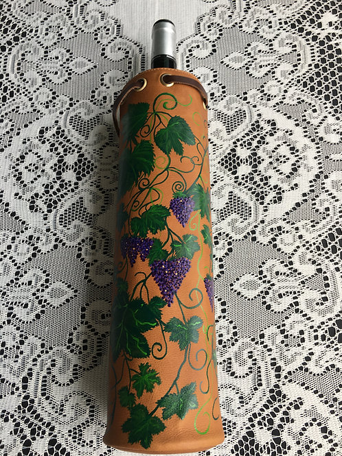IVY~ Leather Wine Tote