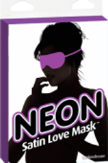 Neon Satin Love Mask- Puple
