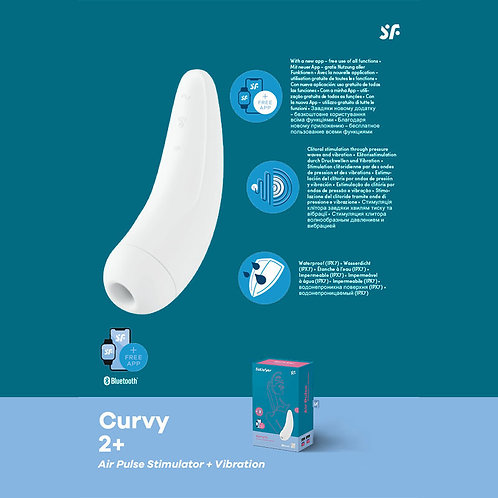 Satisfyer curvy 2+ with App  (2 colours)