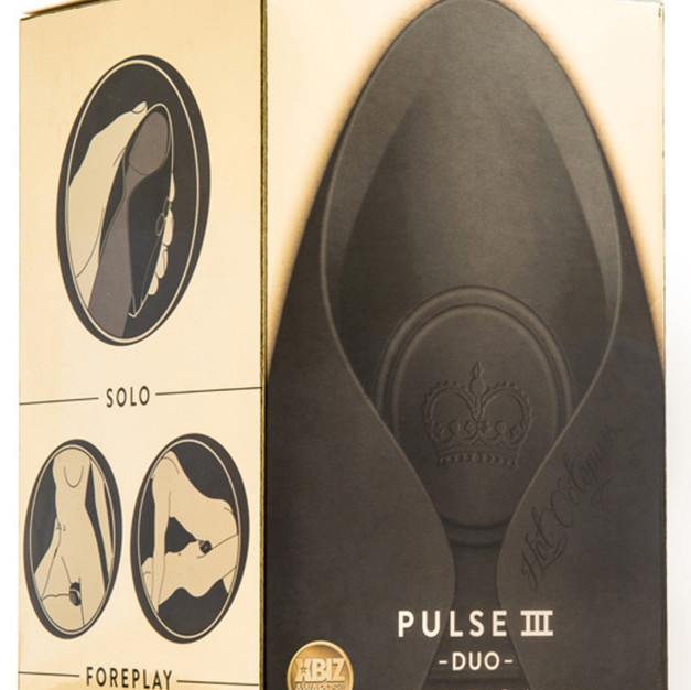 The Pulse Duo has a remote control button and can be used as a masturbation sleeve or as a couples toy.