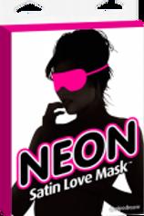 Neon Satin Love Mask- Pink