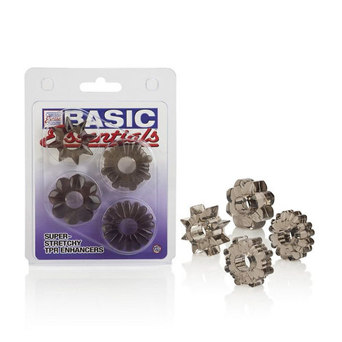 Basic Essentials 4 pack cock rings