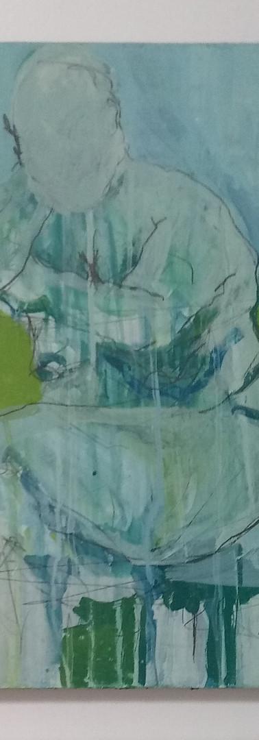 """UNAVAILABLE- Figure on Panel #1 Blue ~20x14"""""""