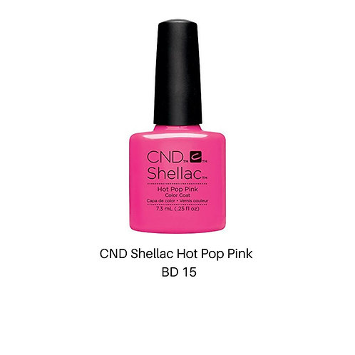 CND Shellac  Hot Pop Pink Color