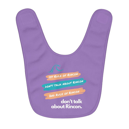 1st Rule About Rincon Girl's Bib
