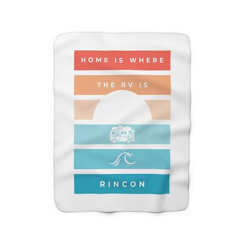 Rincon Sunset Sherpa Fleece Blanket