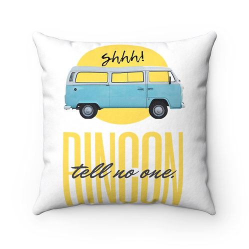 Rincon Tell No One Spun Polyester Square Pillow