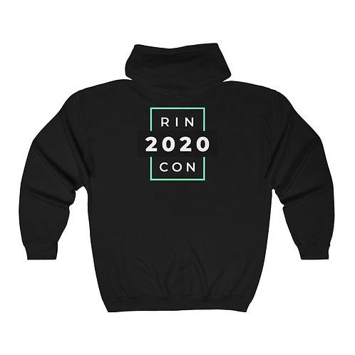 Rincon 2020 Unisex Heavy Blend™ Full Zip Hooded Sweatshirt (printed on back)