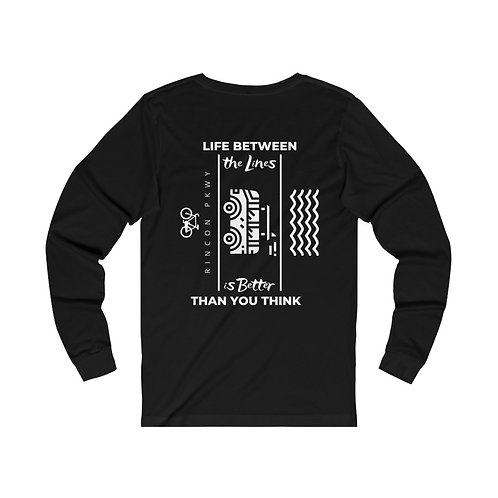 Rincon Between the Lines RV Unisex Jersey Long Sleeve Tee (printed on back)