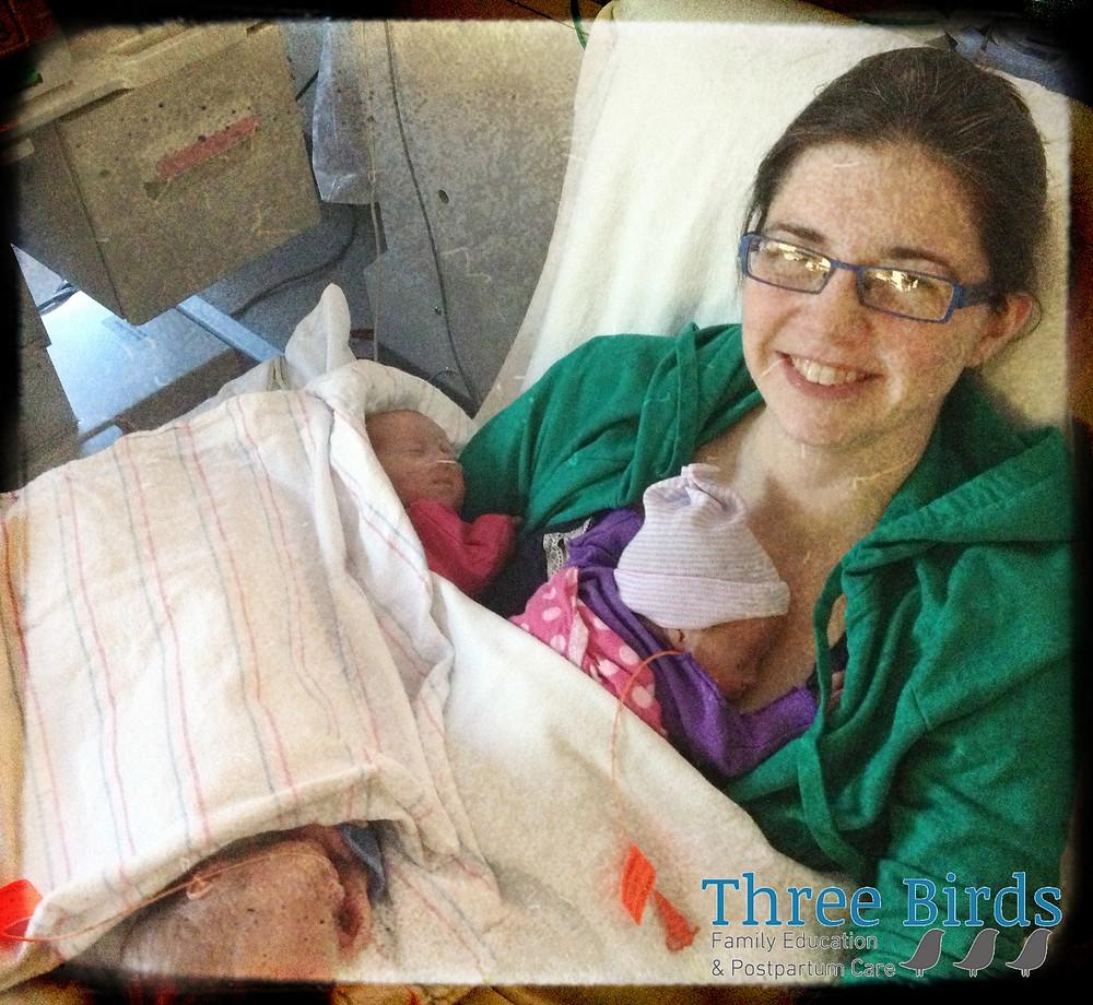 Emily & triplets, NICU 2013