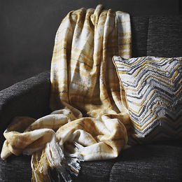 check mohair throw ochre.jpg