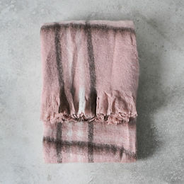 Alma Mohair check throw blush.jpg
