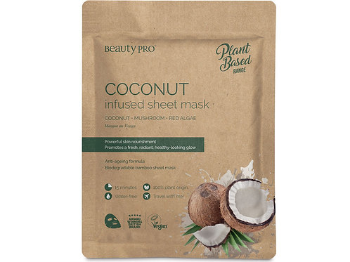Coconut infused sheet mask