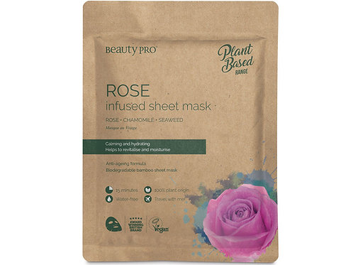 Rose infused sheet mask