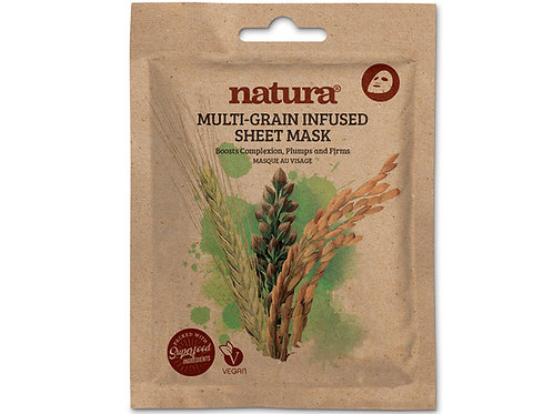 Multi-grain infused sheet mask