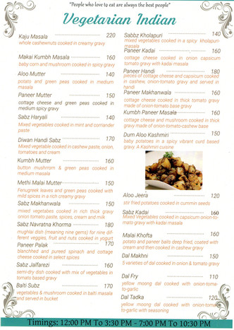 Vegetarian Indian