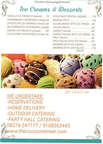 Desserts & Ice creams