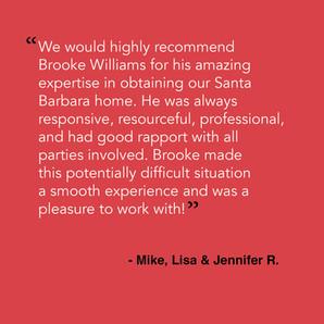 From Mike, Lisa & Jennifer R.